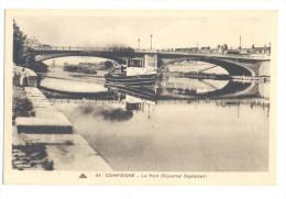 France, Picardie, Oise (60), Compiègne, Le Pont (Séjourné Ingénieur) Bateau Péniche - Compiegne
