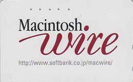 Télécarte Japon / 110-016 - Pub ORDINATEUR MACINTOSH / Banque Bank - Computer PC Japan Phonecard Apple - 35 - Telecom Operators