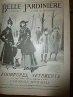 1915    LA BELLE JARDINIERE   Fourrures , Vêtements Et Uniformes Militaires - Textile & Clothing