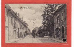 FERNEY-VOLTAIRE(01) / CHEMINS DE FER / TRAMS / TRAMWAYS / Grande Rue Et Station Des Tramways - Ferney-Voltaire