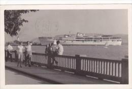 Yugoslavia Crikvenica Harbor Scene With Steamship 1959 Real Photo - Yugoslavia