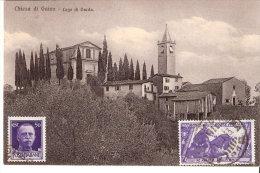 """Chiesa Di Gaino(Toscalano-Maderno- Italia)-1933-Santuorio-Lago Di Garda-cachet """"Luigi Culasso"""" Asti -Piemonte (scan) - Brescia"""