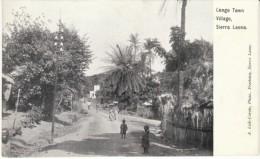 Sierra Leone, , Congo Town Village Street Scene,  British Africa Colony View, C1900s Vintage Postcard - Sierra Leone