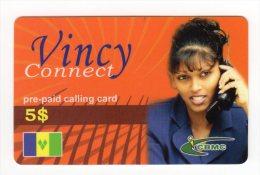 SAINT VINCENT ET LES GRENADINES CARAIBES PREPAYEE CBMC 5$ - Saint-Vincent-et-les-Grenadines