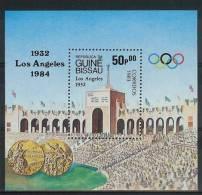 Mua846 SPORT OLYMPISCHE SPELEN STADION GOLDEN MEDAL OLYMPIC GAMES LOS ANGELES POSTZEGELS STAMPS GUINÉ-BISSAU 1983 PF/MNH - Zomer 1984: Los Angeles
