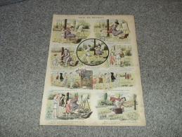 PLANCHE D'IMAGES   ANCIENNE MAISON QUANTIN   Trop De Musique - Vieux Papiers