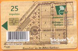 SLOVENIA - SLV 779, 200 Let – Botanični Vrt V Ljubljani 1810 - 2010, 12.000ex, 7/10/2010, Used - Slovénie