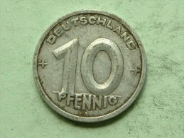 1948 A - 10 PFENNIG / KM 3 ( Uncleaned Coin / For Grade, Please See Photo ) !! - [ 6] 1949-1990 : RDA - Rep. Dem. Alemana
