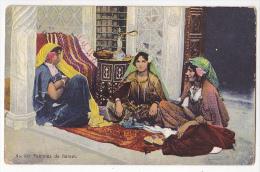 Tunis Tunisia Harem Woman Nargile Vintage Original Postcard Cpa Ak (W3_1865) - Etnicas