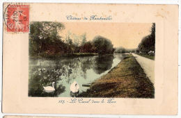 CPA Château De Rambouillet Le Canal Dans Le Parc Cygnes 78 Yvelines - Rambouillet (Château)