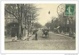CAEN(14)1907-le Boulevard Saint-Pierre-animée-attelages - Caen