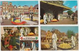8 OLD POSTCARDS HOLLAND: ALKMAAR - KAASMARKT / CHEESE-MARKET / MARCHÉ DE FROMAGE / KÄSEMARKT (See 3 Scans) - Alkmaar