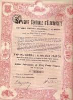 CIE CENTRALE D´ELECTRICITE DE MOSCOU (1906) ROUGE - Electricité & Gaz