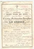 Carolus Ferdinandus Josephus  Le Grelle Antwerpen 1815-1859 Adel - Images Religieuses