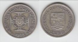 **** MOZAMBIQUE - PORTUGAL - 2,50 ESCUDOS 1935 - ARGENT - SILVER **** EN ACHAT IMMEDIAT !!! - Mozambique