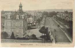 CPSM MAISONS LAFITTE (Yvelines) - Mairie Et Avenue Longueil - Maisons-Laffitte