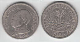 **** HAITI - 50 CENTIMES 1908 PRESIDENT PIERRE NORD ALEXIS **** EN ACHAT IMMEDIAT !!! - Haïti
