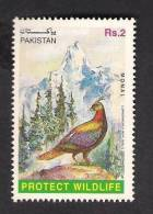 1997 Pakistan Wildlife, Birds, Monal Pheasant, Mountains 1v MNH - Birds