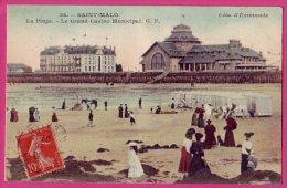 PC1680 PC: Saint Malo: Beach And Casino, 1907 - Saint Malo