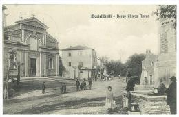CARTOLINA - MONTELIBRETTI  - BORGO CHIESA NUOVA - MOLTO ANIMATA - VIAGGIATA NEL 1906 - Roma (Rome)