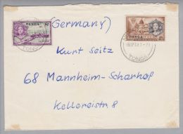 Ozeanien Tonga 1923-04-16 Nuku'Alofa Brief Nach Mannheim - Tonga (1970-...)