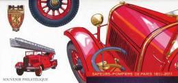 """Bloc-Feuillet De 2011 """"Sapeurs-Pompiers De Paris 1811-2011"""" Avec Son Encart Illustré - Ungebraucht"""