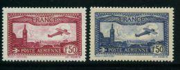 FRANCE AERIENS : N° Y&T 5/6 TIMBRE NEUF SANS TRACE DE CHARNIERE XX  , A VOIR . - 1927-1959 Nuevos