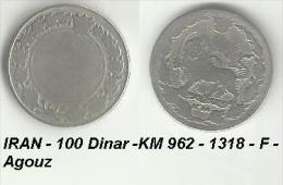 IRAN - 100 Dinar -KM 962 - 1318 - F - Agouz - Iran