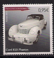 2013 Andorra France Mi. 758**MNH  Cord 810 Phaeton - French Andorra