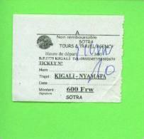 RWANDA - Sotra Tours Bus Ticket/Kigali To Nyamata - Bus