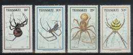 Mzp025 FAUNA ´INSECTEN´ SPINNEN ´INSECTS´ SPIDERS TRANSKEI 1987 PF/MNH - Spinnen