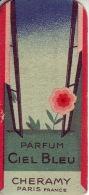 Carte Parfum - CIEL BLEU De CHERAMY - M. SERCOURT Parfumerie LES OLLIERES - Perfume Cards