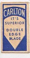 RAZOR BLADE RASIERKLINGE CARLTON  IT'S SUPERIOR DOUBLE EDGE BLEDE  Nicht Ohne Rasierer Gefüllt - Rasierklingen
