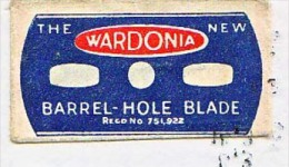 RAZOR BLADE RASIERKLINGE THE NEW WARDONIA BARREL-HOLE BLADE No. 751922 ,PRINTED IN ENGLAND  Nicht Ohne Rasierer Gefüllt - Rasierklingen