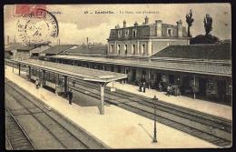 CPA ANCIENNE- FRANCE- LUNÉVILLE (54)- LA GARE- VUE INTERIEURE PLONGEANTE- ANIMATION- GROS PLAN - Luneville