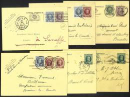 Belgique - CB072 - Houyoux - 6 Cartes Postales - Obl. LUTTRE - BRAINE L´ALLEUD - GREMBERGEN - MARCHIENNE - BRUXELLES - 1922-1927 Houyoux