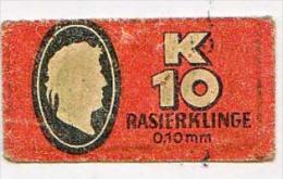 RAZOR BLADE RASIERKLINGE K 10 RAISERKLINGE 0,10 Mm  Nicht Ohne Rasierer Gefüllt - Rasierklingen