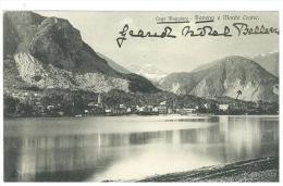 CARTOLINA -  BAVENO - LAGO MAGGIORE E MONTE LEONE - VIAGGIATA NEL 1905 - Verbania