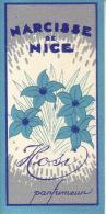 Carte Parfum - NARCISSE DE NICE De HOSI - Perfume Cards
