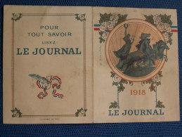 """""""""""   PETIT  CALENDRIRE  DE  POCHE  //  1918  - GRAVURE  HENRI  SOLLIER  DESSINATEUR  -  OFFERT  PAR LE  JOURNAL     """""""" - Calendriers"""