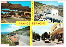 Carte ( Format 15 X 10,5 Cm )  Bourg Madame  Le Perthus  Cerbère  Le Col D' Ares ( Frontière ) ( Recto Verso ) - Cerbere
