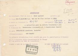 ATTESTATION Chemins De Fer Etat 1965 - RARE Cachet De Gare HEER AGIMONT Douane  --  UU010 - Railway