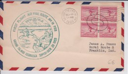 USA - 1933 - POSTE AERIENNE - ENVELOPPE AIRMAIL De GRAND ISLAND ( NEBRASKA ) -  FIRST FLIGHT AIR MAIL ROUTE AM 18 P.O.D - Poste Aérienne
