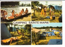 Carte ( Format 15  X 10,5 Cm )  Sainte Marie La Mer  Camping  ( Recto Verso ) - Frankrijk