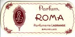 Carte Parfum - ROMA De LAGRANGE - BRUXELLES - Perfume Cards