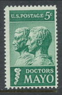 USA 1964 Scott # 1251. Doctors Mayo Issue, MNH (**) - United States