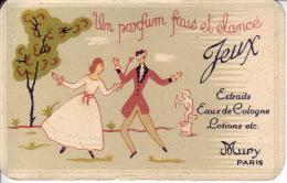 Carte Parfum- JEUX (arbre De Couleur Verte) De MURY - Un Parfum Frais Et élancé - Perfume Cards