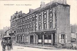 HOMECOURT -Avenue De La République 1916 Dép54  (animée)Carte Française Transformée En FELDPOST (2scans) - Homecourt