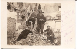 Carte Photo Militaire 1914 1918 - Soldats - Meurthe-et-Moselle 1915 - Guerre 1914-18
