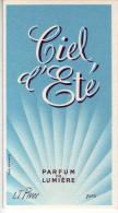 Carte Parfum - CIEL D´ETE De L.T. PIVER - Perfume Cards